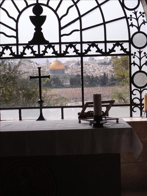 view from church of dominus flevit