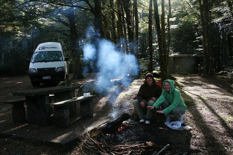 FREE camping! FREEZING though!