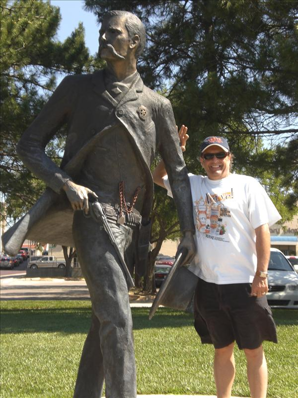 Mark with Wyatt Earp. He is in heaven here in Dodge City