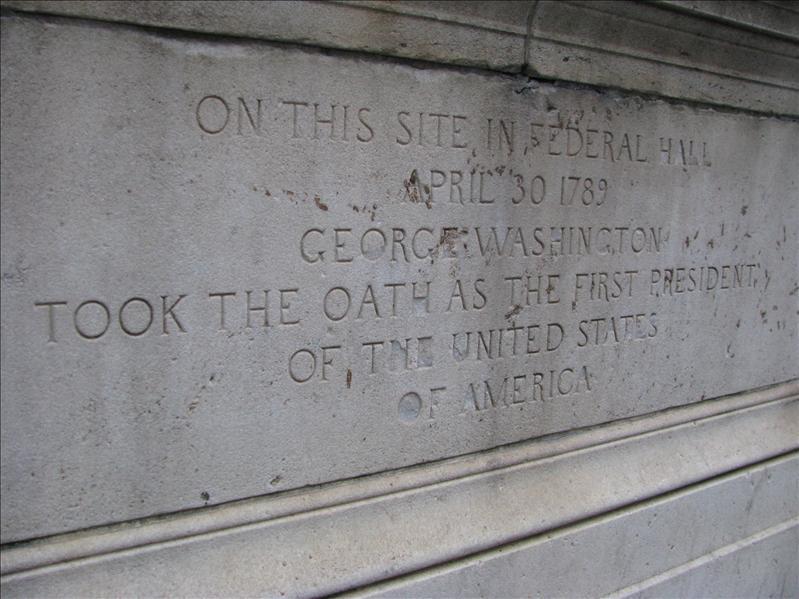 George Washington inauguratie