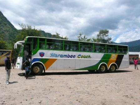 my bus from Dar to Moshi