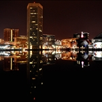 Baltimore at night