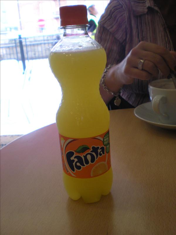 Fanta...just because it was a funny colour :)