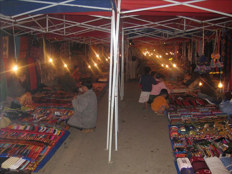 Nigh Bazar on Sisavangvong road