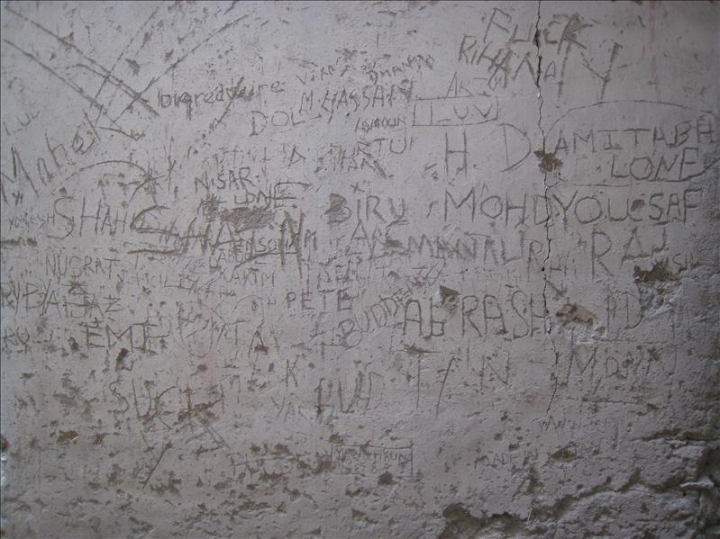 Graffiti at Leh Palace