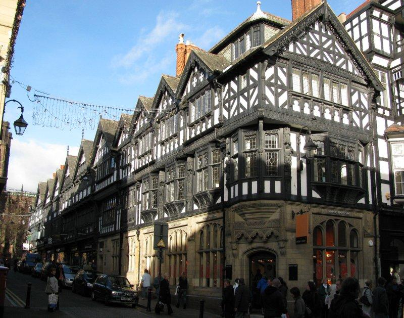... the High Street in Chester ....