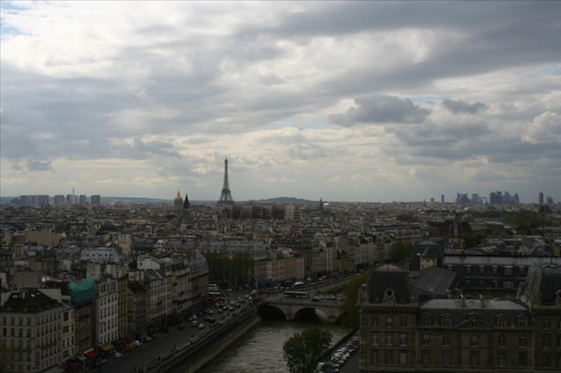 Paris from atop the Notre Dame