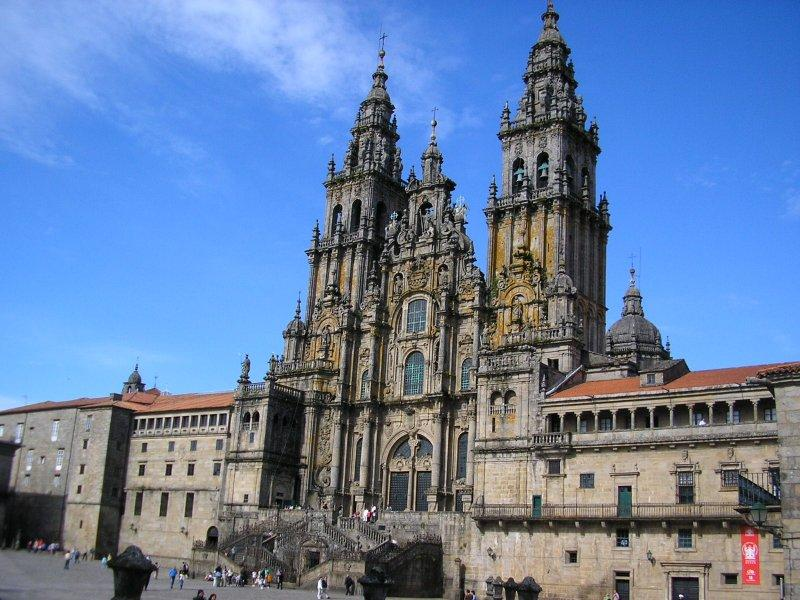 ..of the cathedral at Santiago....