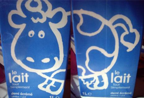 可愛的小牛牛奶,0.59歐一瓶1L,不到30NT$