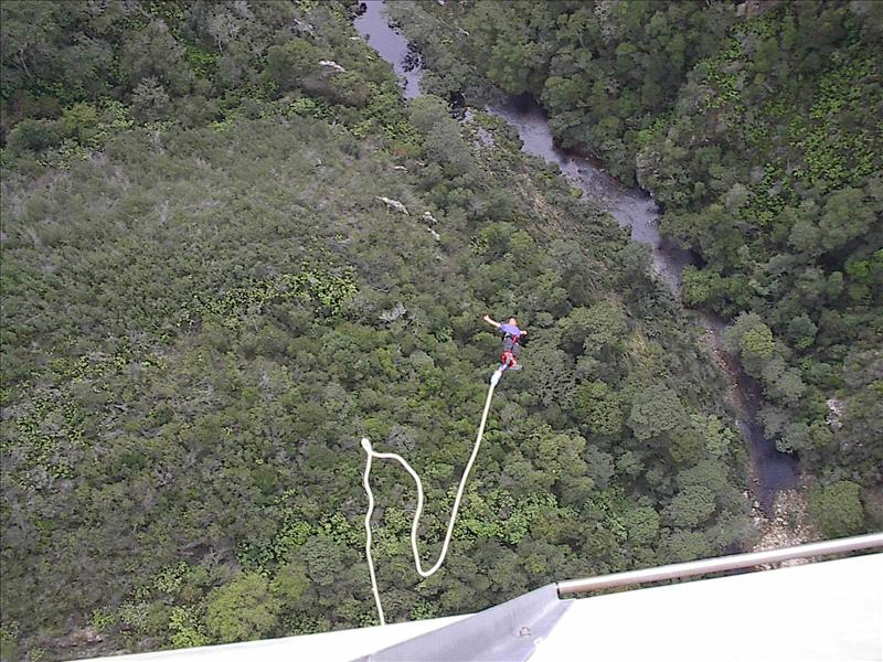 South Africa has the highest commercial bungee jump in the world at 216 metres at the Bloukrans Bridge on the border of the Eastern and Western Cape.