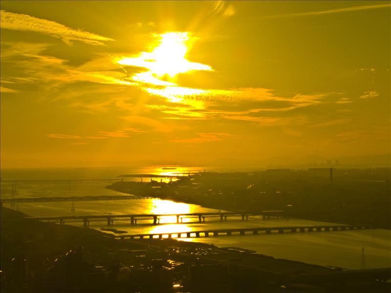 Sunset in Osaka