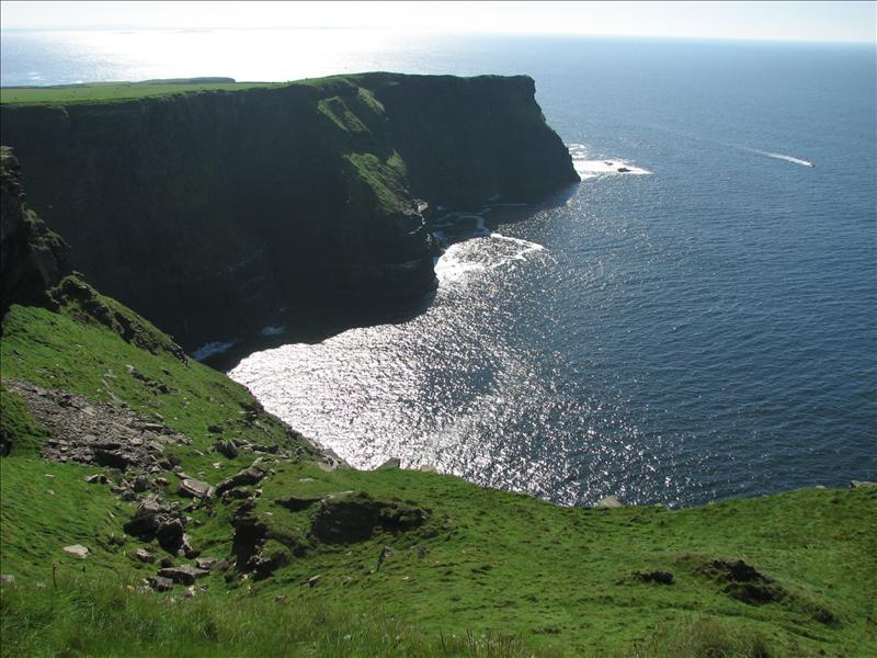 "Looking out towards some more cliffs, but these don't get to be included in the title of ""cliffs of moher"""