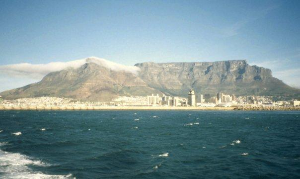 TABLE MOUNTAIN AND CAPE TOWN, SA - MAY