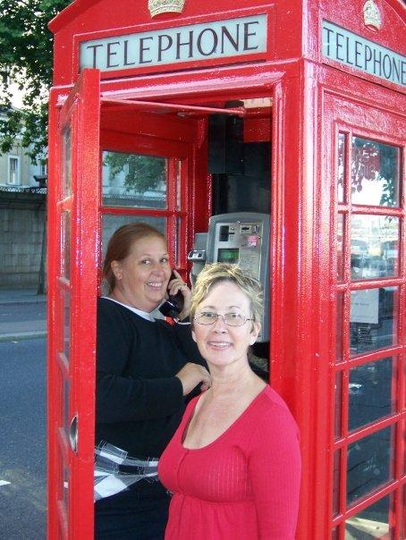 The famous red phone booths.