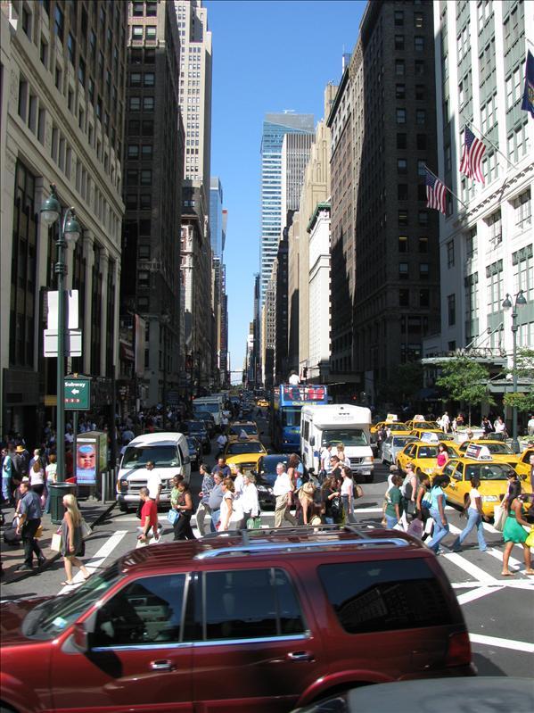 een gemiddeld beeldje van NY