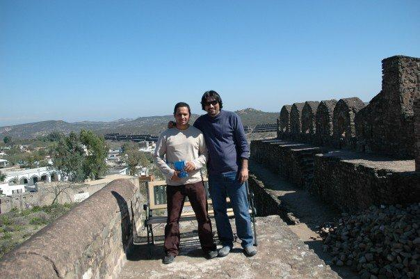Me and Arif Mirza at Kula Rootas , Jhelum on way to Lahore for basant.
