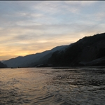 Sunset and end of day 1 on the Mekong