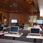 first time offered by Microsoft for the ship- -a free class of digital workshop .Sessions were repeated throughout the cruise.