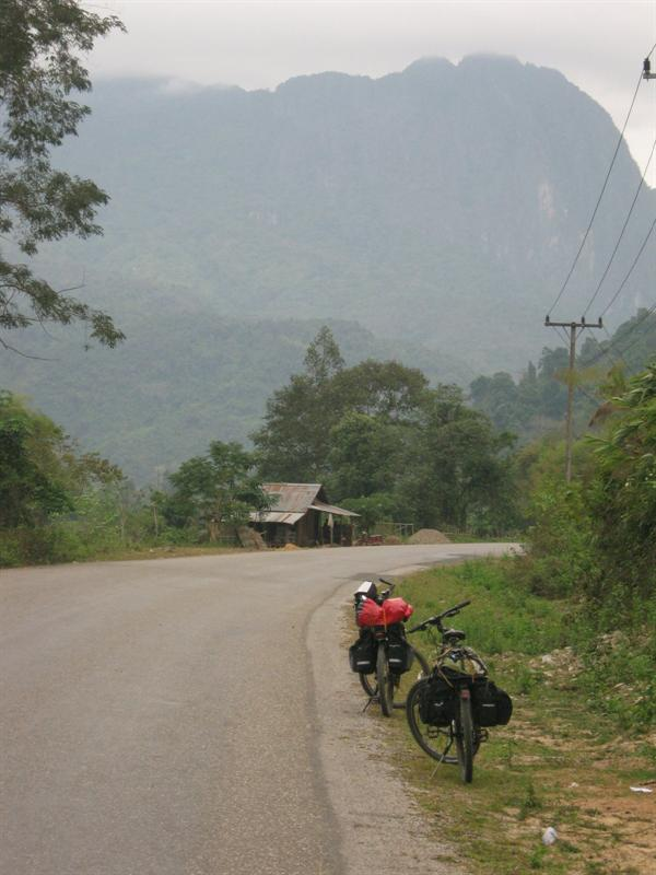 on the road to Luang Prabang