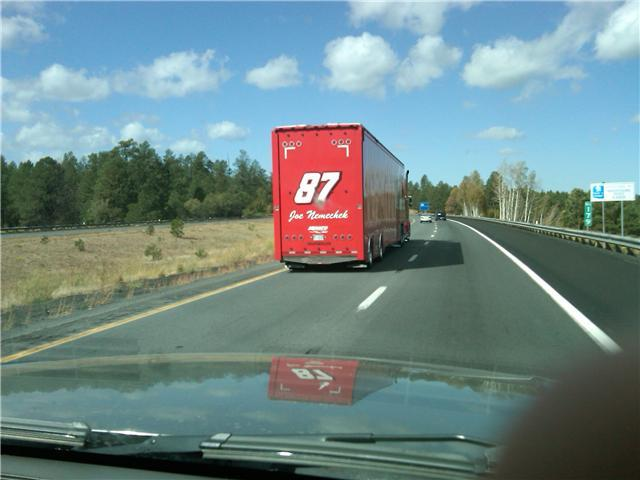 NASCAR On the way to Fontana