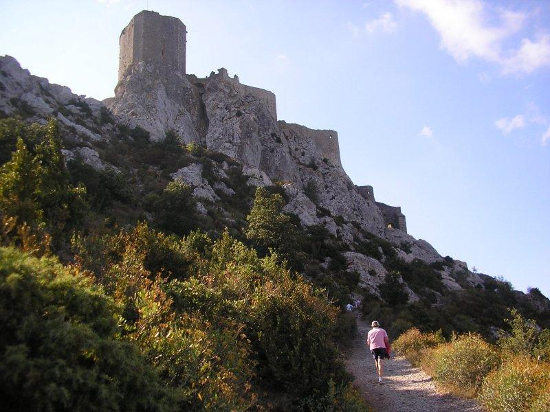 A day in the mountains, to see two well-disguised castles, Queribus....