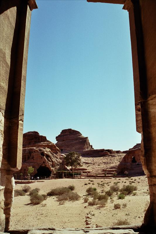 from inside The Monastery (ad-Deir),