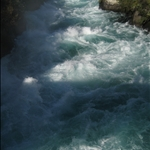 Huka Falls through canyon