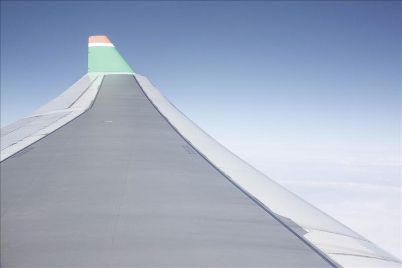 從機艙內拍機翼