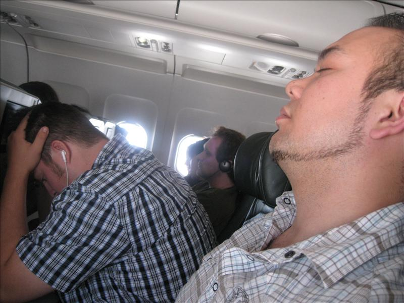 haha That guy ate his nails the whole flight back