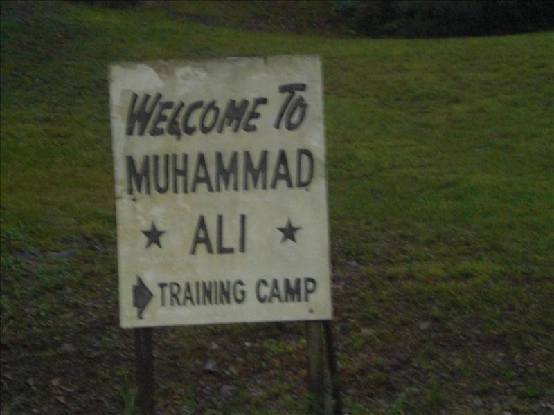 Ali's training camp.