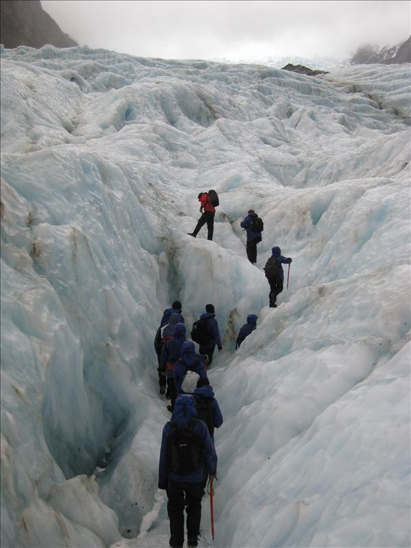 Hiking the glacier