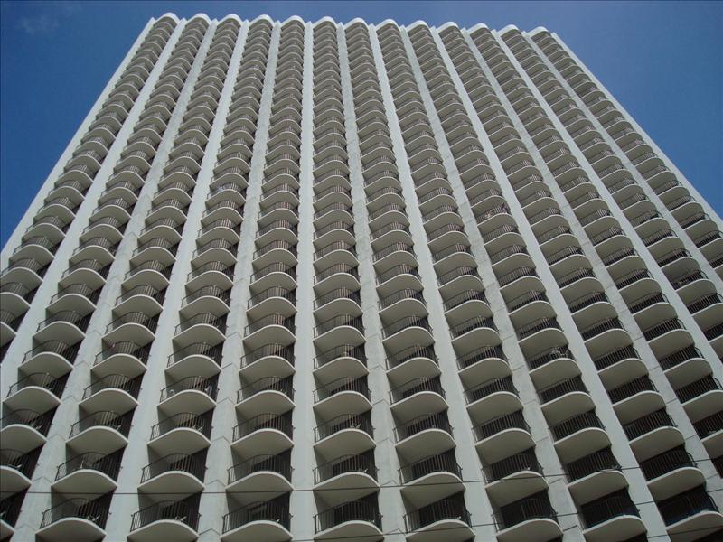 Honolulu - Huge hotels