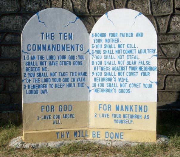 THE TEN COMMANDMENTS, ST PAUL CATHEDRAL, VIGAN