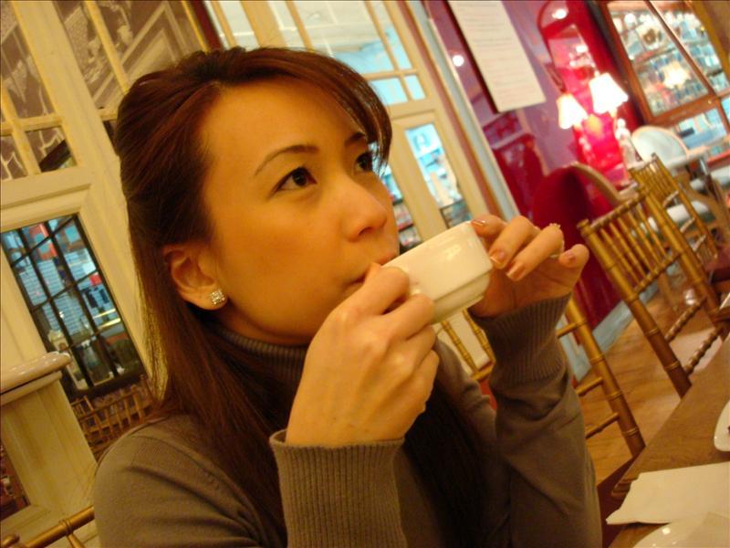 Drinking a Dark Chocolate Espresso
