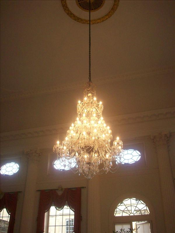 OMG chandelier in the Pump room restaurant.