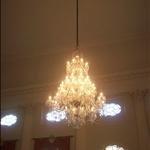 OMG chandelier in the Pump room restaurant.