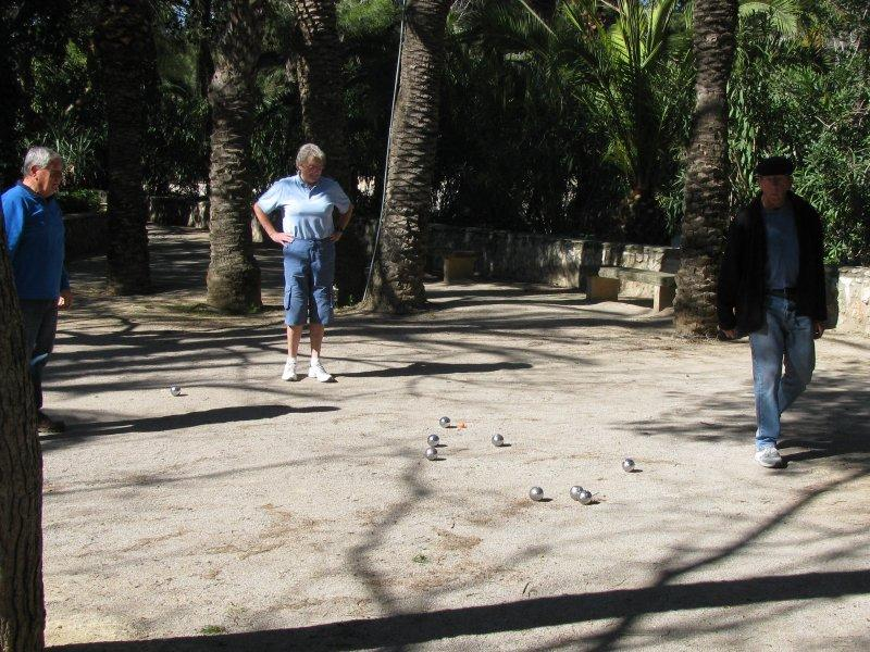 Saturday morning boules.
