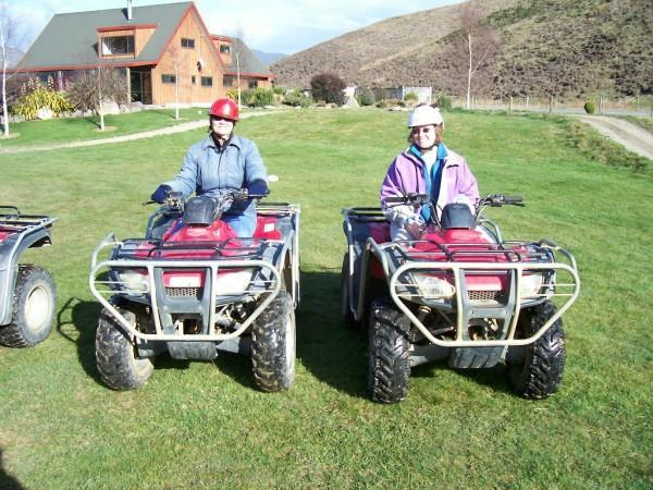 10-AUG-2007 Happy Valley Farm - Quad riding around farmland.  Went up the mountain, across streams and through open fields with sheep.