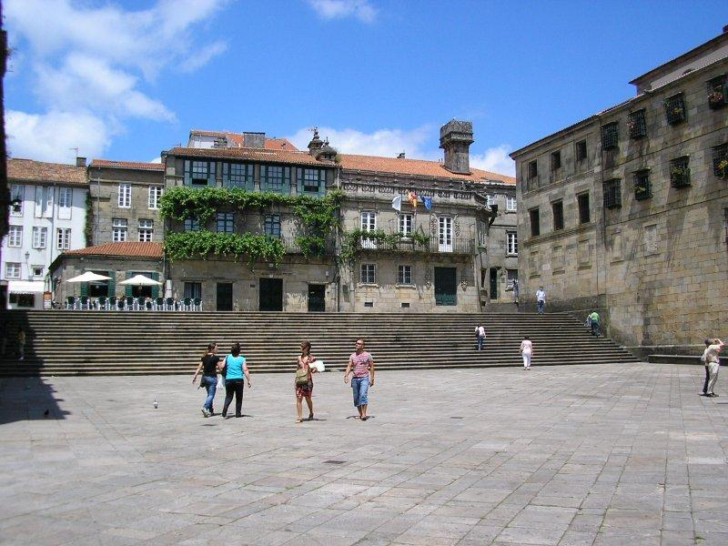 The square of the dead and living adjoins the cathedral.