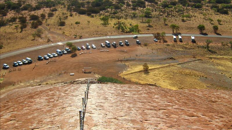 Looking down from Uluru