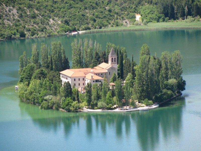 ... an island monastery...