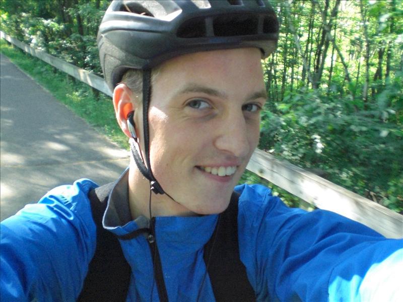 owja mijn nieuwe fietsoutfit (zonder helm beetje onverantwoord)