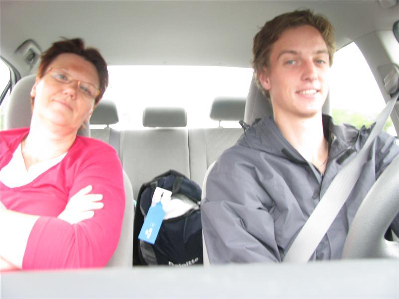 in de auto naar canada (8 uurtje rijden maar...)