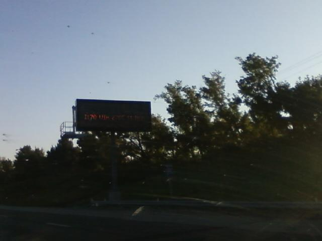 the interstate information boards warn of issues