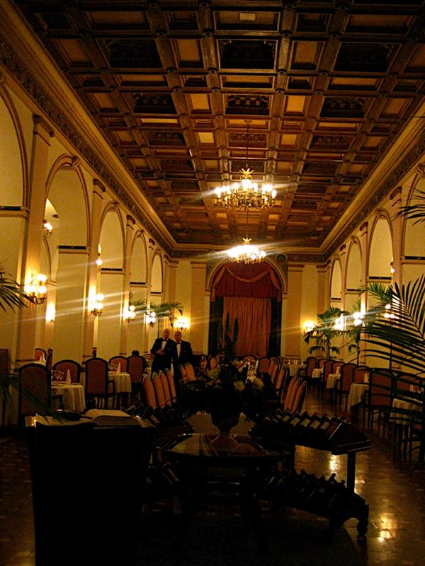 The restaurant at the prestigious National Hotel, headquarters for the Film Festival.