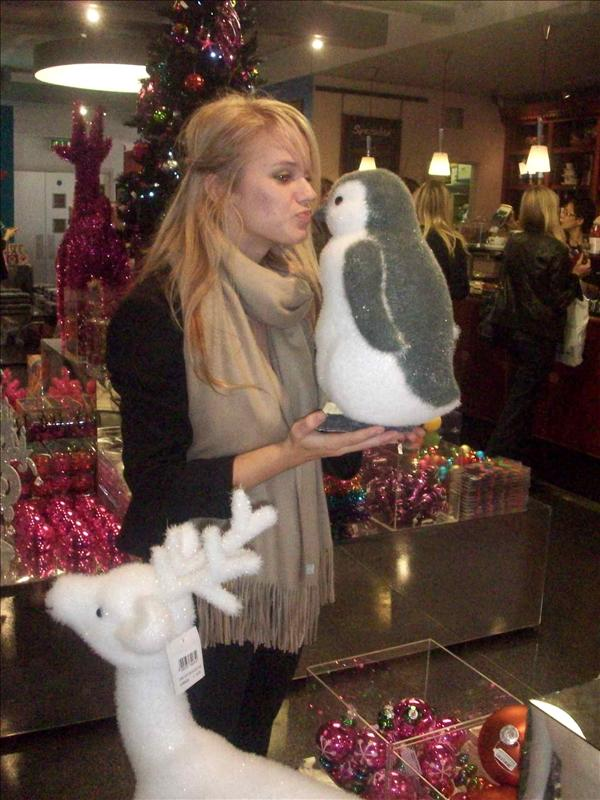 Kissing a cute penguin :)