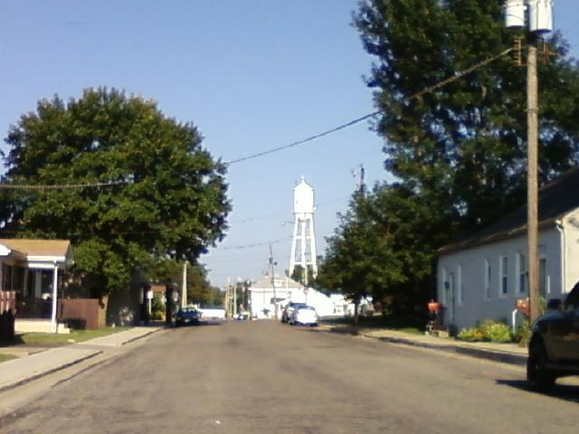 the water tower down the street