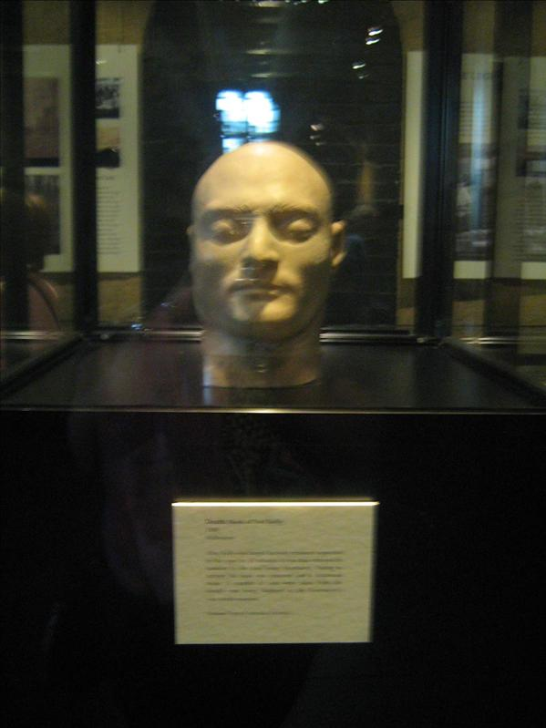 Ned Kelly's Death Mask in Old Melbourne Gaol