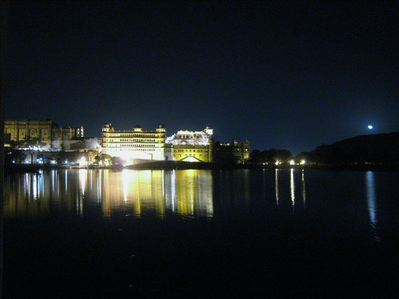 City Palace at night