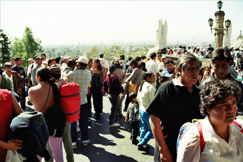 Pilgrims at the Festival of Our Lady of Guadalupe